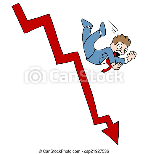 an image of a falling stock market vectors search clip art rh canstockphoto com stock market clipart stock market crash clipart