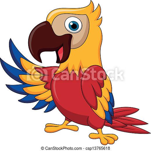 falować, ara, ptak, rysunek - csp13765618