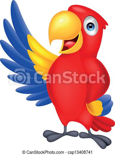 falować, sprytny, ara, ptak - csp13408741