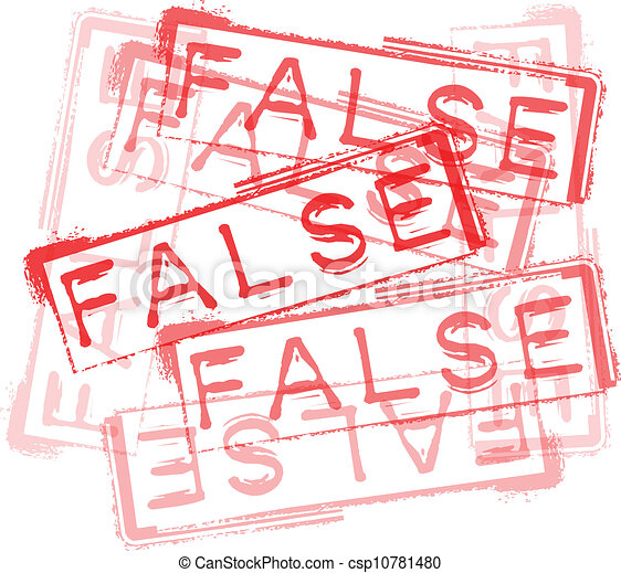 FALSE rubber stamp print. Vector illustration - csp10781480