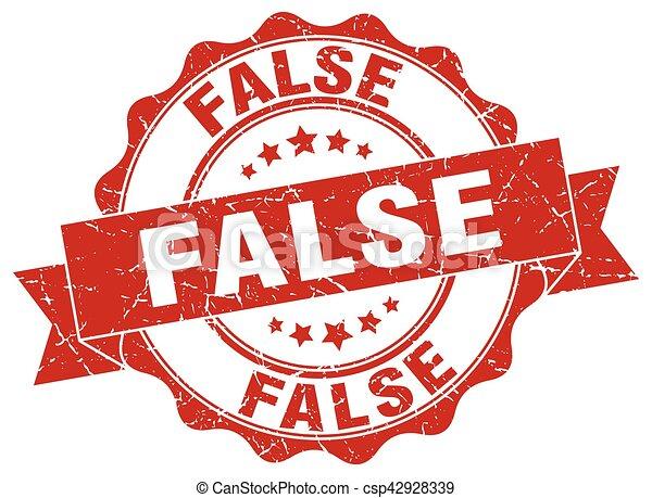 false stamp. sign. seal - csp42928339