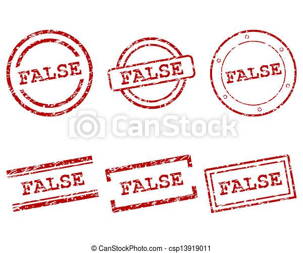 False stamps - csp13919011