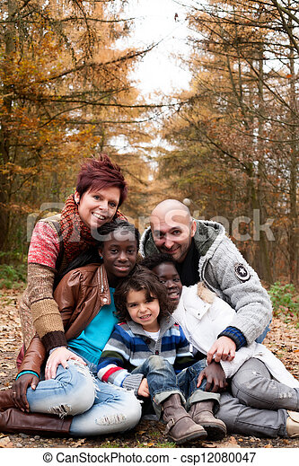 família, adotado, crianças - csp12080047