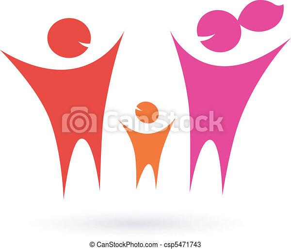 família, pessoas, comunidade, ícone - csp5471743
