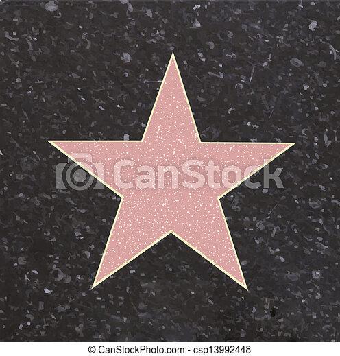 Estrella de fama - csp13992448