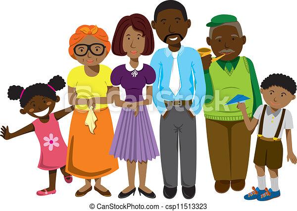 famiglia, africano - csp11513323