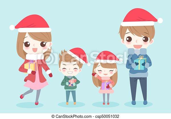 Buon Natale Famiglia.Famiglia Cartone Animato Buon Natale Fondo Natale Famiglia
