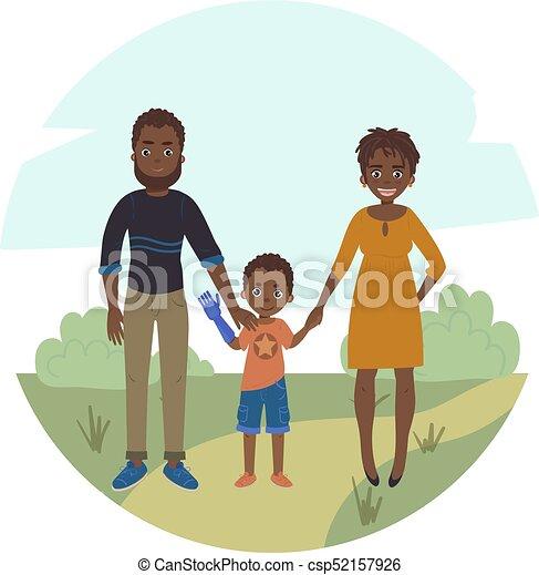 famiglia, coppia, figlio, invalido, girl., felice - csp52157926