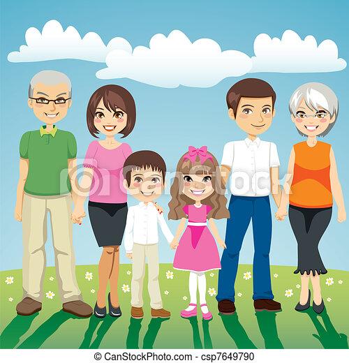 famiglia estesa - csp7649790
