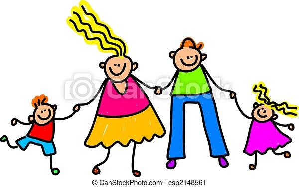 famiglia, felice - csp2148561
