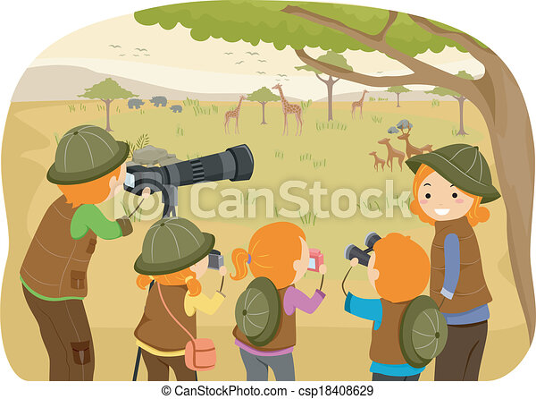 famiglia, safari - csp18408629