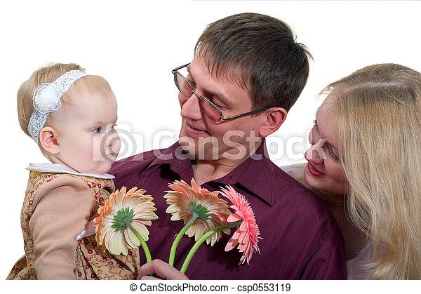 familia , feliz - csp0553119