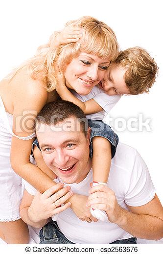Feliz familia - csp2563676