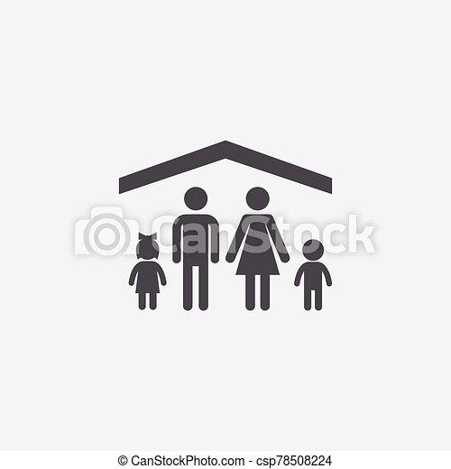 familia , icon., seguro - csp78508224