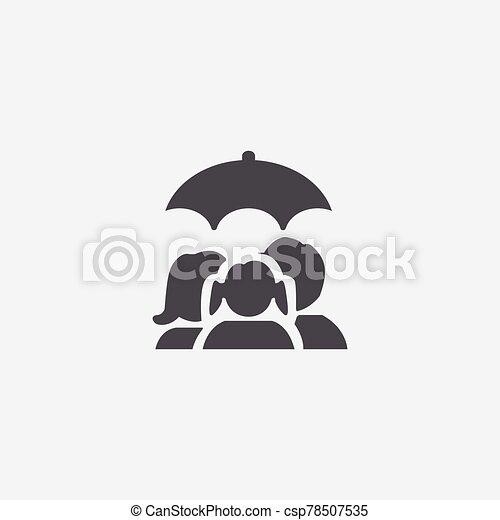 familia , icono, seguro - csp78507535
