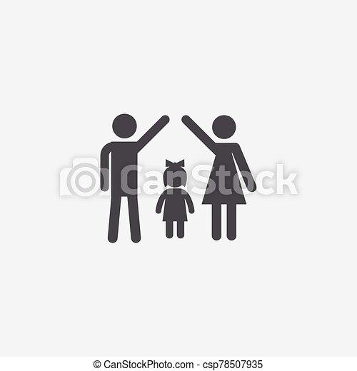 familia , icono, seguro - csp78507935