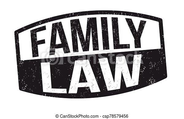 familia , ley, señal, estampilla, o - csp78579456