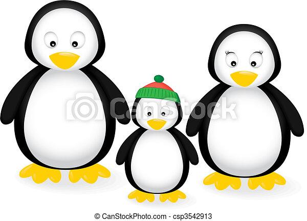 Familia Pingüino - csp3542913