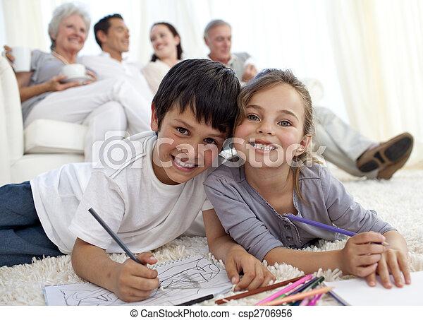 Familie Boden Sofa Ihr Gemalde Kinder Familie Boden Sofa