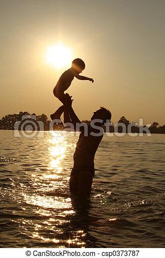 familie, glücklich - csp0373787