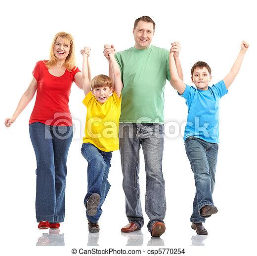 familie, glücklich - csp5770254