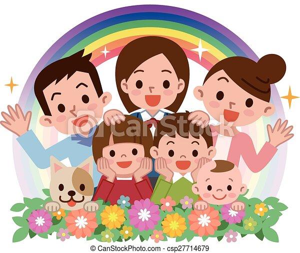 familie, glade - csp27714679