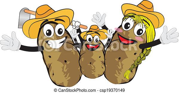 Kartoffelfamilie - csp19370149