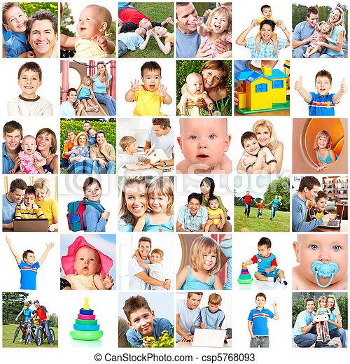 familien, glücklich - csp5768093