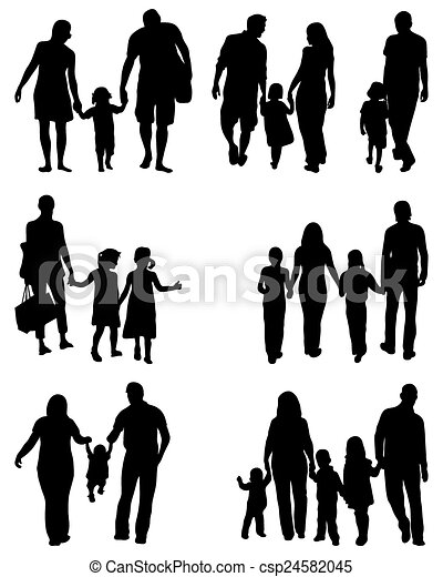 black silhouettes of families in walk vector https www canstockphoto com families 24582045 html