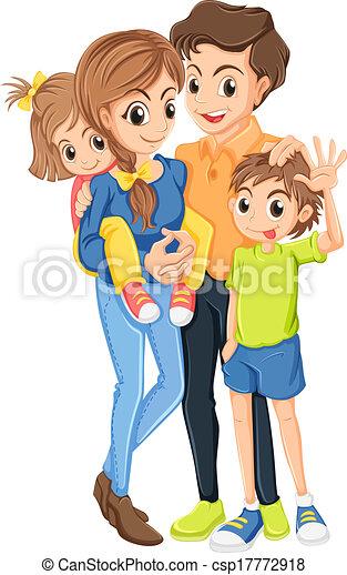 Fond Blanc Illustration Famille Canstock
