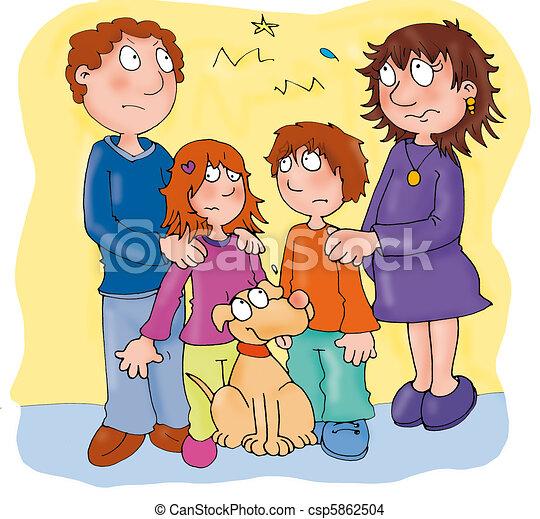 famille, divorcé - csp5862504