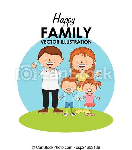 famille heureuse - csp24603139