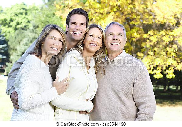 famille, heureux - csp5544130