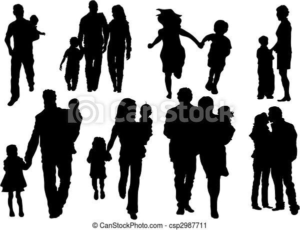 famille, heureux - csp2987711