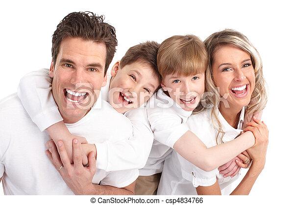famille, heureux - csp4834766