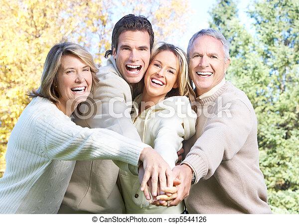 famille, heureux - csp5544126