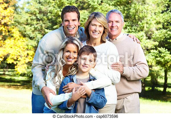 famille, heureux - csp6073596