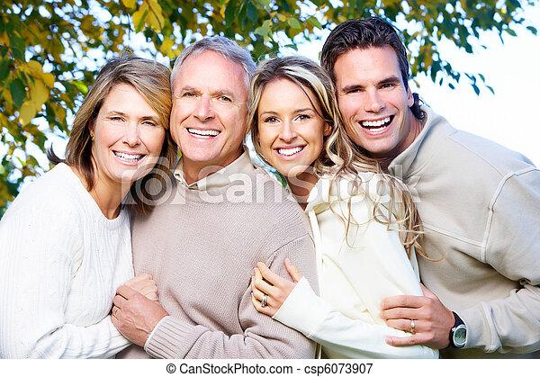 famille, heureux - csp6073907