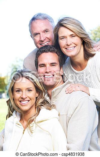 famille, heureux - csp4831938