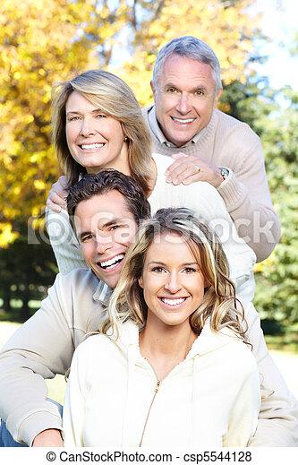 famille, heureux - csp5544128