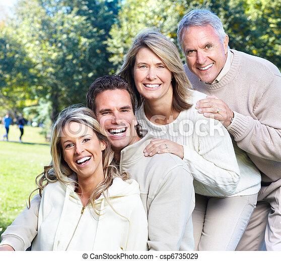 famille, heureux - csp6735029