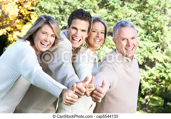 famille, heureux - csp5544133