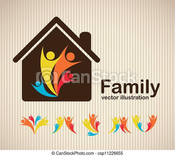 famille, icônes - csp11226655