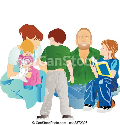 Family All Together Vector