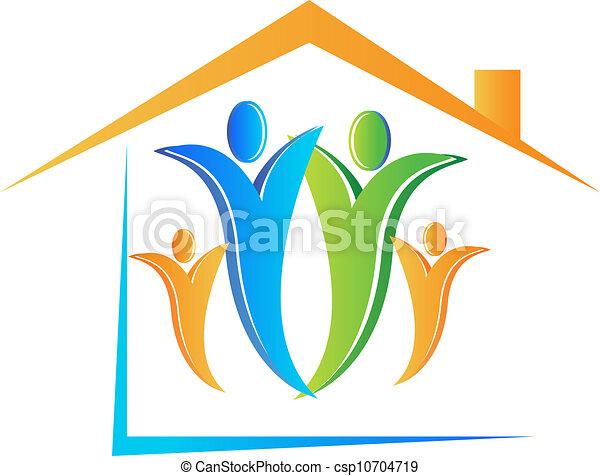 Family and house logo vector - csp10704719