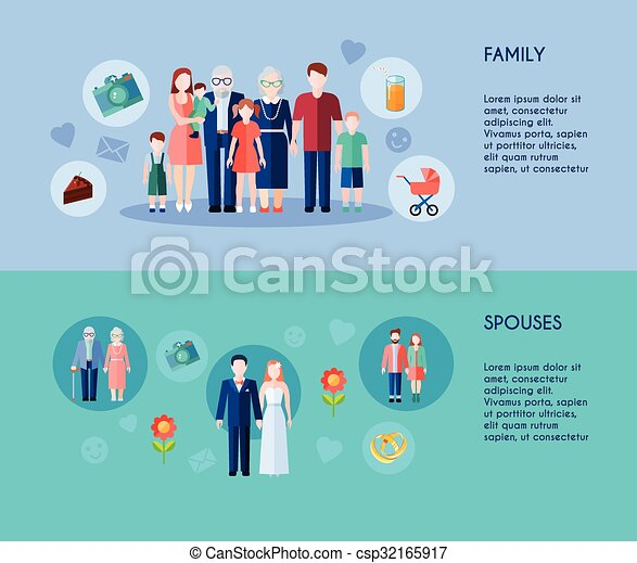 Family And Spouses Banners - csp32165917