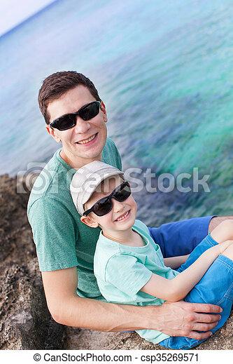 family at cayman - csp35269571