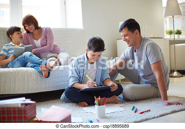 Family at leisure - csp18895689