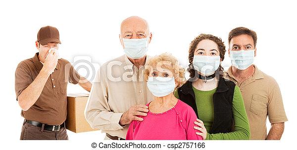 Family Avoids the Flu - csp2757166