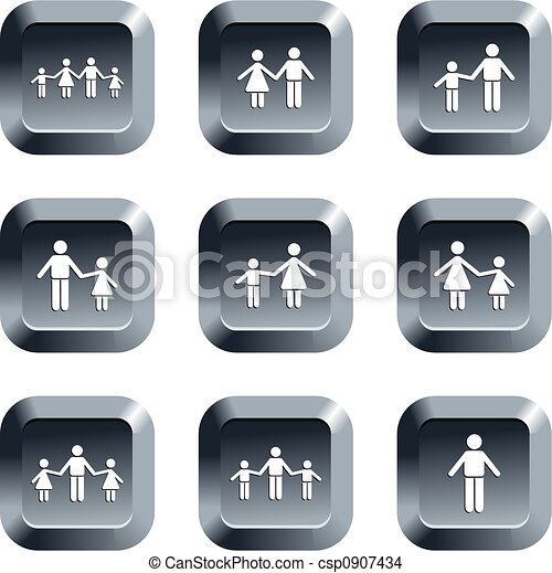 family buttons - csp0907434